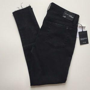 Joe's Jeans Skinny Ankle Raw Edge Black Jeans